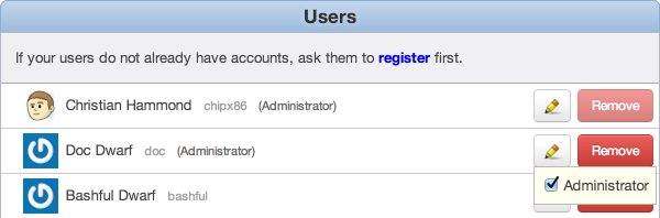 Assign an administrator